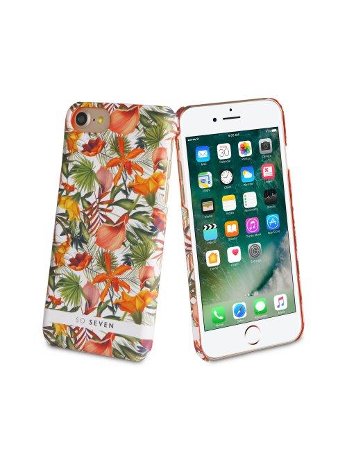 so seven coque jardin d hiver blanc motif fleurs apple iphone 7