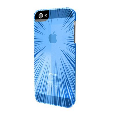 Coque minigel flexy speedlight bleue pour iPhone 5 avec film