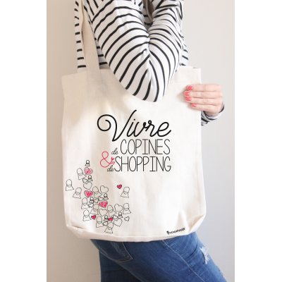 Shopping bag Vivre de copines et de shopping