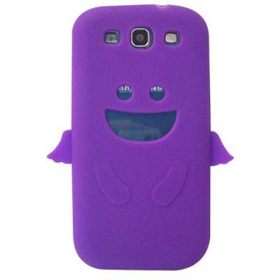 Coque silicone ange violet Galaxy SIII