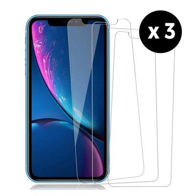 Lot de 3 Vitres iPhone 12/12 Pro en verre trempé transparente