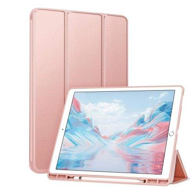 Etui de protection pour iPad 9,7 A1673-A1674-A1674-A1822-A1823-A1566-A1567- A1893-A1954-A1474-A1475-A1476 Rose