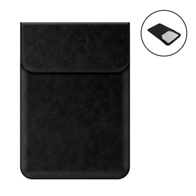 Housse de protection aspect cuir pour tablette, ordinateur compatible de 13,3 à 15,4 pouces Noir