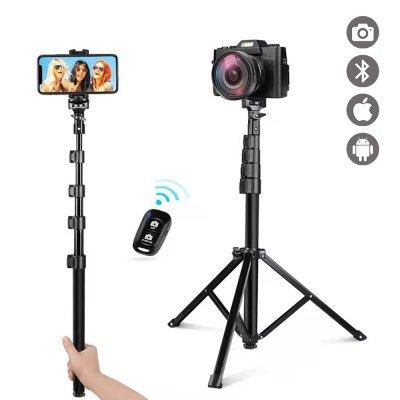 Perche Selfie Trépied extensible de 43 à 160 cm avec Télécommande Bluetooth sans fil