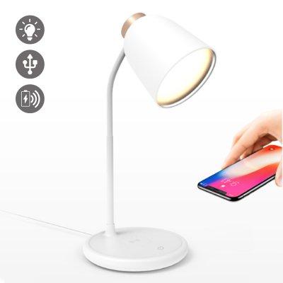 Lampe de bureau, de chevet avec port de chargement USB