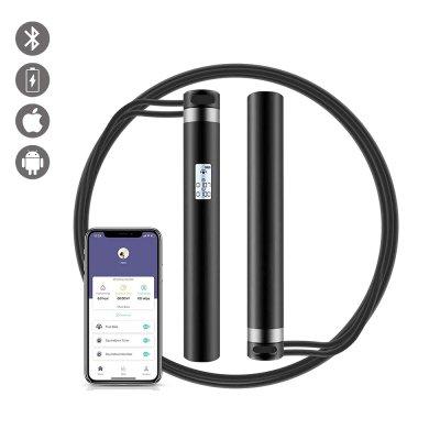 Corde à sauter connectée rechargeable avec enregistrement de vitesse, calories, temps
