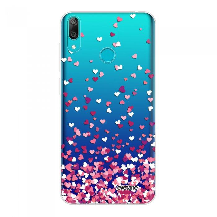 Coque Huawei Y7 2019 360 intégrale transparente Confettis De Coeur Tendance Evetane.