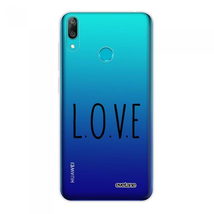 Coque Huawei Y7 2019 360 intégrale transparente L.O.V.E Tendance Evetane.
