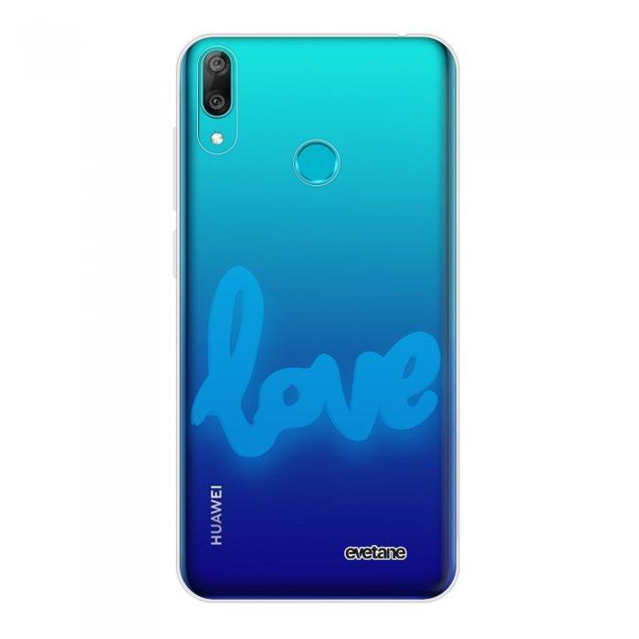 Coque Huawei Y7 2019 360 intégrale transparente Love Fluo Tendance Evetane.