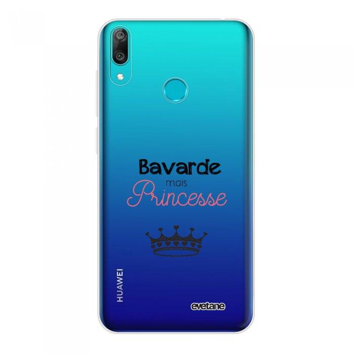 Coque Huawei Y7 2019 360 intégrale transparente Bavarde mais princesse Tendance Evetane.