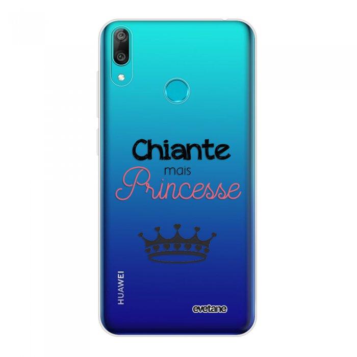 Coque Huawei Y7 2019 360 intégrale transparente Chiante mais princesse Tendance Evetane.