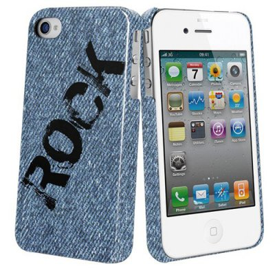 Coque arriere protection Muvit collection Rock 2 pour iphone 4 et 4S