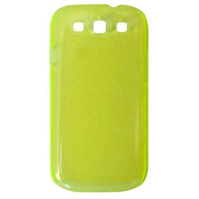Coque rigide transparente paillette vert pour Samsung Galaxy S3