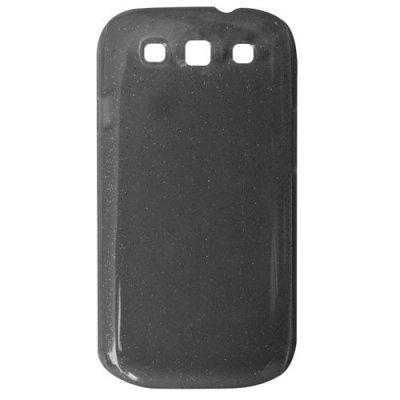 Coque rigide transparente paillette noir pour Samsung Galaxy S3