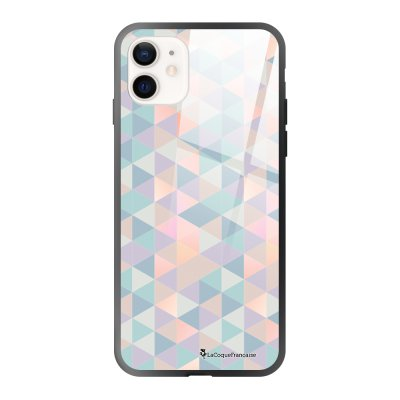 Coque iPhone 12 Mini Triangles multicolors Design La Coque Francaise