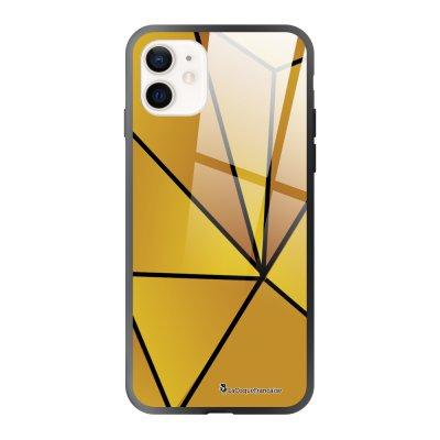 Coque iPhone 12 Mini Jaune géométrique Design La Coque Francaise