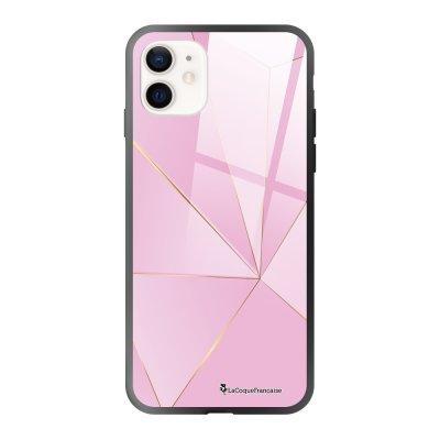 Coque iPhone 12 Mini Rose géométrique Design La Coque Francaise