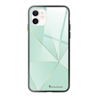 Coque iPhone 12 Mini Vert géométrique Design La Coque Francaise