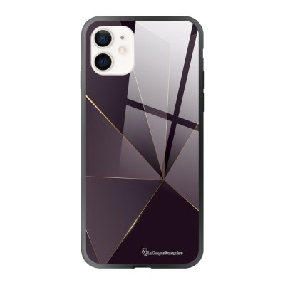 Coque iPhone 12 Mini Violet géométrique Design La Coque Francaise