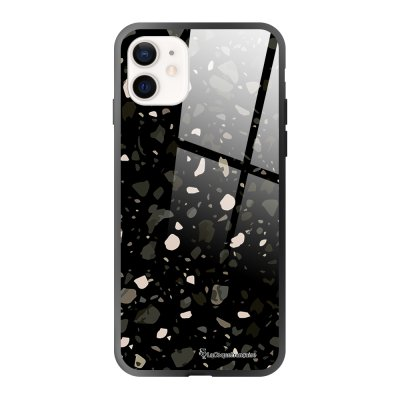 Coque iPhone 12 Mini Terrazzo Noir Design La Coque Francaise