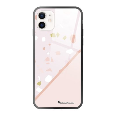 Coque iPhone 12 Mini Duo Terrazzo Rose Design La Coque Francaise
