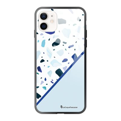 Coque iPhone 12 Mini Duo Terrazzo Bleu Design La Coque Francaise
