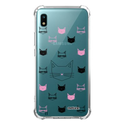 Coque Samsung Galaxy A10 anti-choc souple angles renforcés transparente Cats motifs Evetane