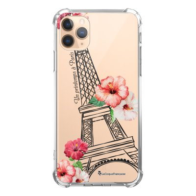 Coque iPhone 11 Pro anti-choc souple angles renforcés transparente Un Printemps à Paris La Coque Francaise