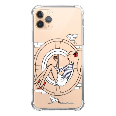 Coque iPhone 11 Pro anti-choc souple angles renforcés transparente Sur les Toits de Paris La Coque Francaise