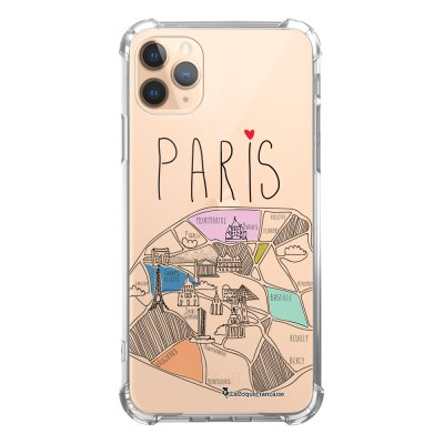 Coque iPhone 11 Pro anti-choc souple angles renforcés transparente Plan de Paris La Coque Francaise