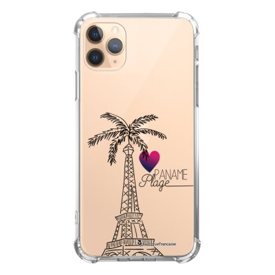 Coque iPhone 11 Pro anti-choc souple angles renforcés transparente Paname plage La Coque Francaise