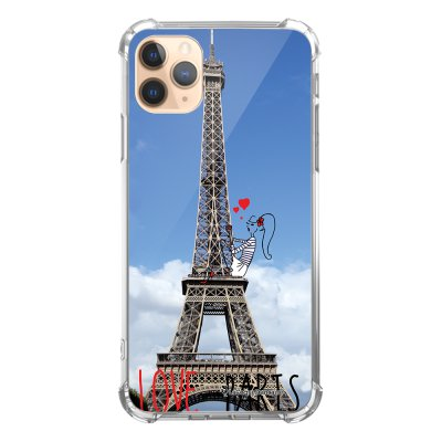 Coque iPhone 11 Pro anti-choc souple angles renforcés transparente Love Paris La Coque Francaise