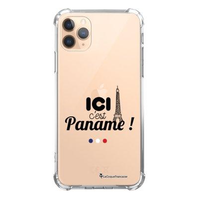 Coque iPhone 11 Pro anti-choc souple angles renforcés transparente Ici c'est Paname La Coque Francaise