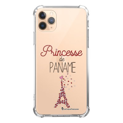 Coque iPhone 11 Pro anti-choc souple angles renforcés transparente Princesse de Paname La Coque Francaise
