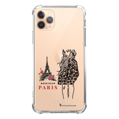 Coque iPhone 11 Pro anti-choc souple angles renforcés transparente Fashion Girl à Paris La Coque Francaise