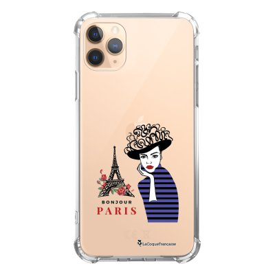 Coque iPhone 11 Pro anti-choc souple angles renforcés transparente Madame à Paris La Coque Francaise