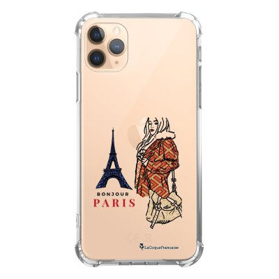 Coque iPhone 11 Pro anti-choc souple angles renforcés transparente School Girl à Paris La Coque Francaise