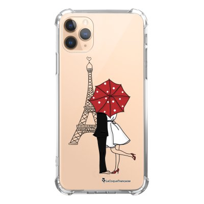Coque iPhone 11 Pro anti-choc souple angles renforcés transparente Amour à Paris La Coque Francaise