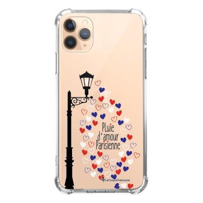 Coque iPhone 11 Pro anti-choc souple angles renforcés transparente Pluie amour La Coque Francaise