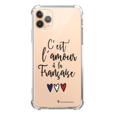 Coque iPhone 11 Pro anti-choc souple angles renforcés transparente C'est l'amour La Coque Francaise