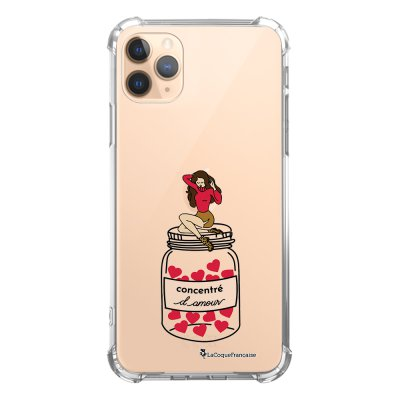 Coque iPhone 11 Pro anti-choc souple angles renforcés transparente Concentré d'amour La Coque Francaise