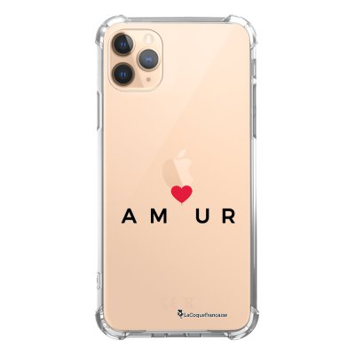 Coque iPhone 11 Pro anti-choc souple angles renforcés transparente Amour_coeur La Coque Francaise