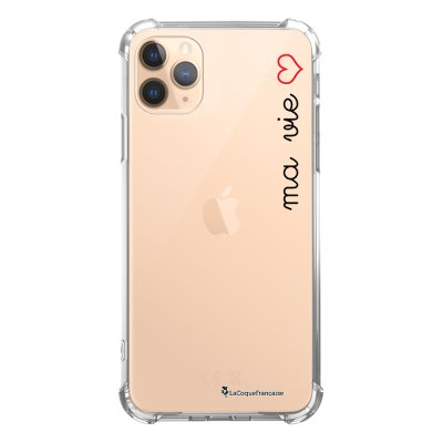 Coque iPhone 11 Pro anti-choc souple angles renforcés transparente Ma vie La Coque Francaise