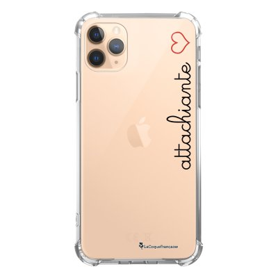 Coque iPhone 11 Pro anti-choc souple angles renforcés transparente Attachiante La Coque Francaise