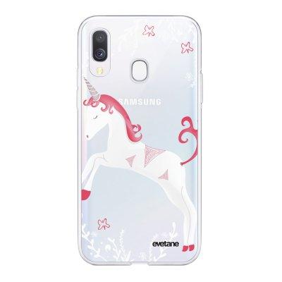 Coque Samsung Galaxy A40 souple transparente Licorne Motif Ecriture Tendance Evetane
