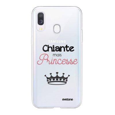 Coque Samsung Galaxy A40 souple transparente Chiante mais princesse Motif Ecriture Tendance Evetane