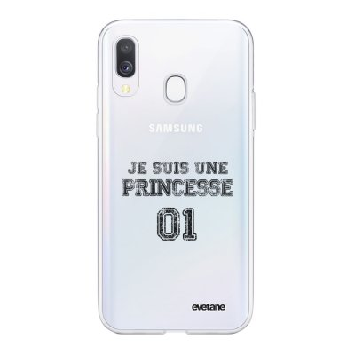 Coque Samsung Galaxy A40 souple transparente Princesse 01 Motif Ecriture Tendance Evetane