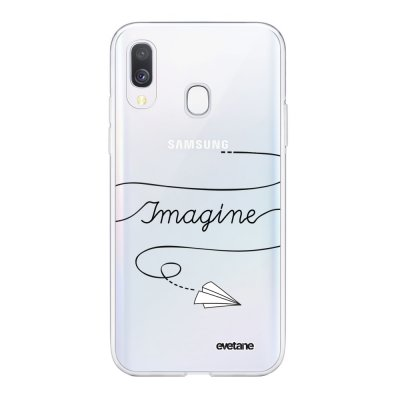 Coque Samsung Galaxy A40 souple transparente Imagine Motif Ecriture Tendance Evetane