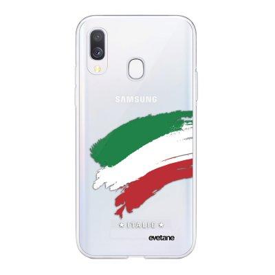 Coque Samsung Galaxy A40 souple transparente Italie Motif Ecriture Tendance Evetane