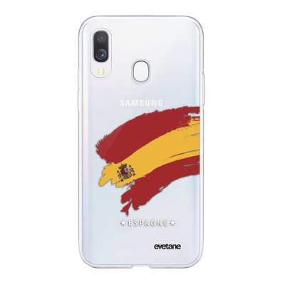 Coque Samsung Galaxy A40 souple transparente Espagne Motif Ecriture Tendance Evetane